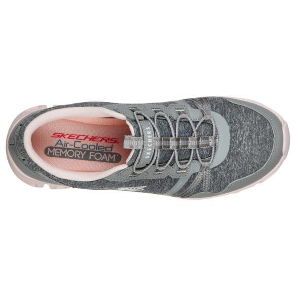 Skechers Glide Step - Stepping Up Grau / Pink
