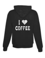 """Hoodie """"I Love Coffee"""""""