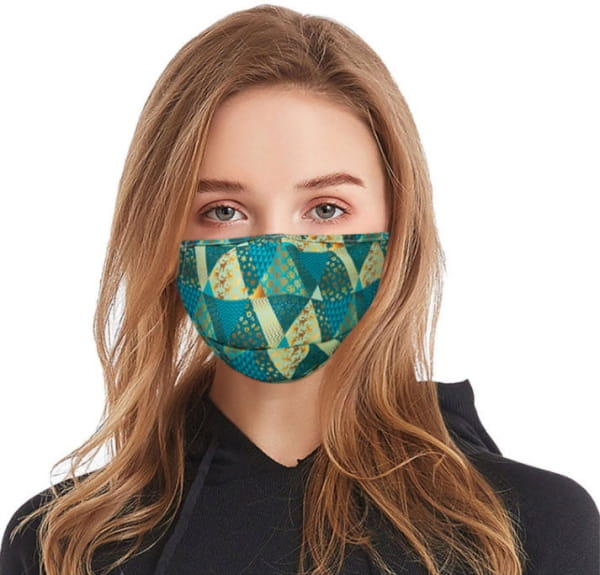 Waschbare Stoffmaske Winter Green