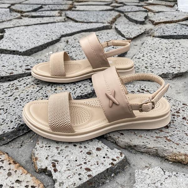 Sommersandale Comfort Beige