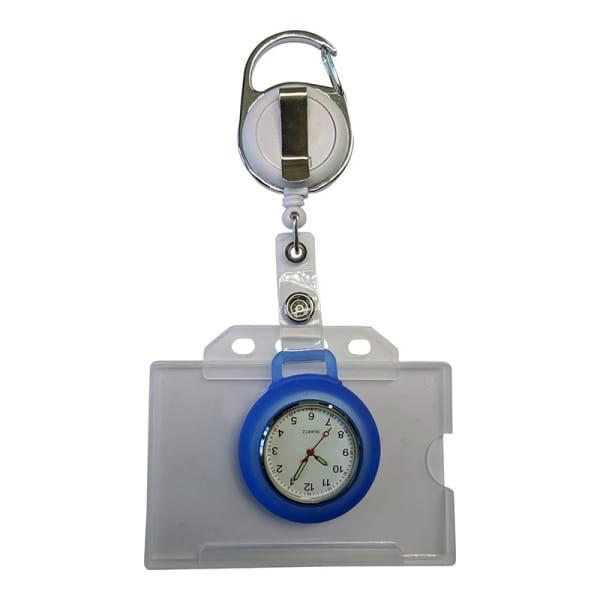 Uhr-Badgehalter-Kombi
