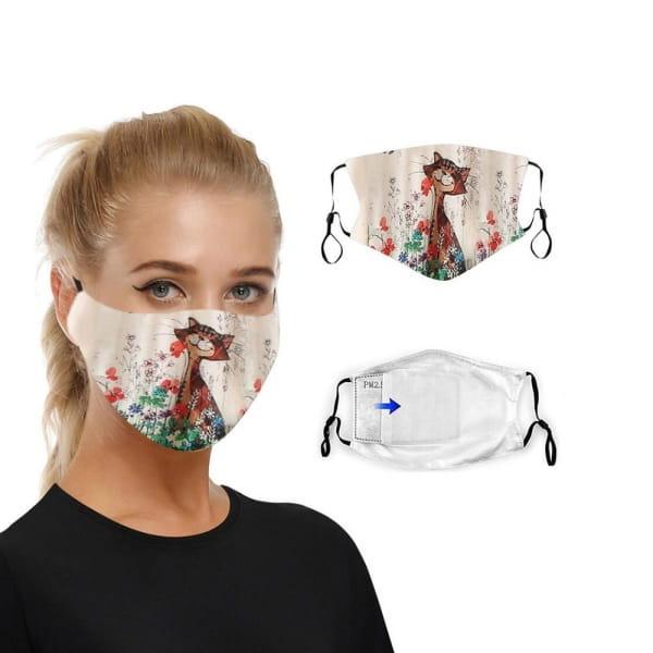 Masque en tissu lavable chat