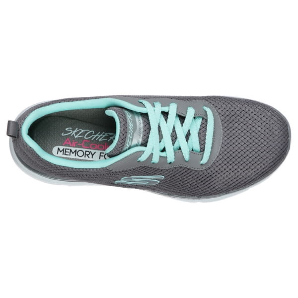 Skechers Flex Appeal 3.0 - First Insight Grau / Mint