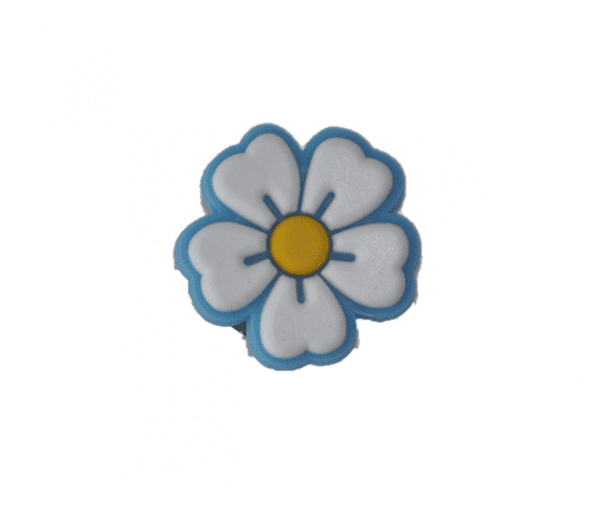 Pin pour chaussures fleur lumière bleu