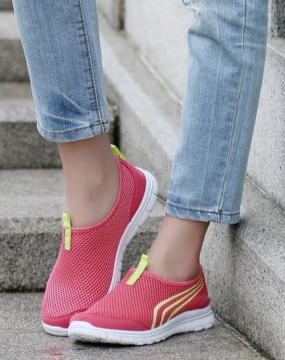 EasySneaker Lachs-Rot