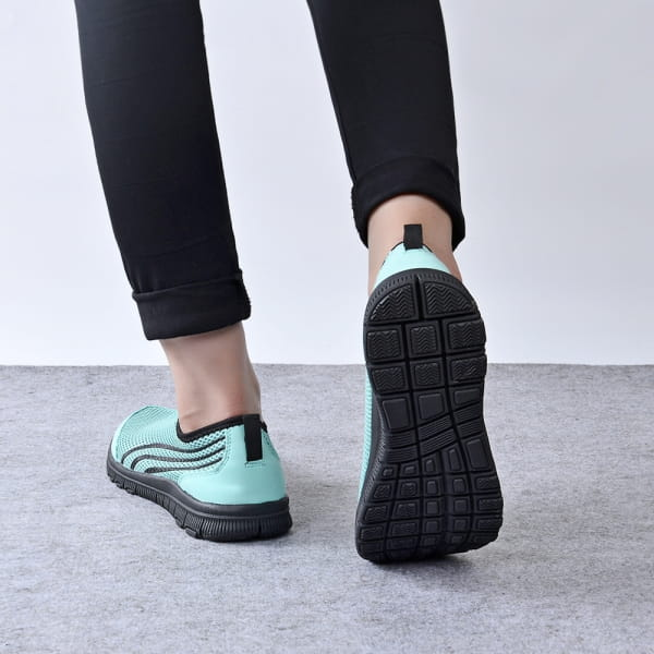 EasySneaker Schwarz-Türkis