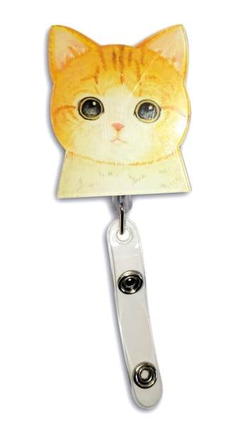 Badge-Halter Katze