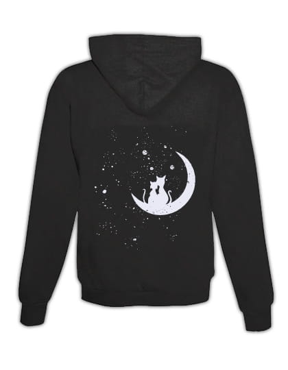 "Hoodie ""Cats in Moon"""