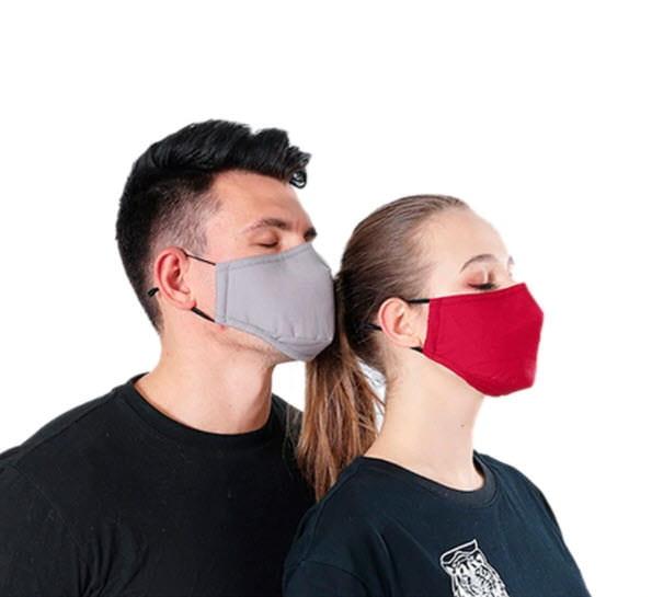 Waschbare Stoffmaske Hellgrau