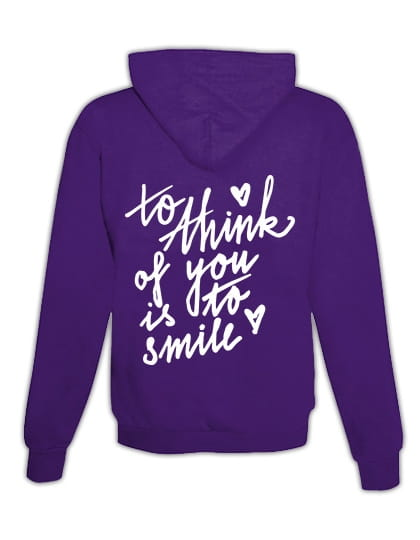 """Hoodie """"To think of you"""""""