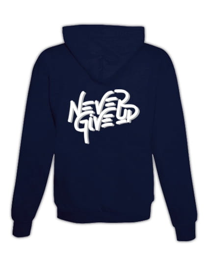 """Hoodie """"Never give up"""""""