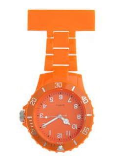 Horloge avec goupille de sécurité - orange