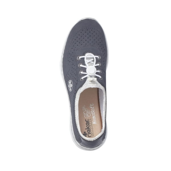 Rieker Chaussure à lacets - Pacifique / Argent