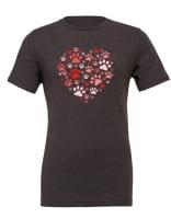 "T-Shirt ""Hunde Herz Rot"""