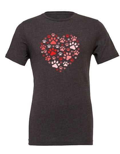 "T-Shirt ""Chiens Coeur Rouge"""